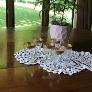 Tiffin Franciscan Rambler Rose juice glasses